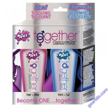 Wet Together Two 2 fl OZ Lubricant for Couples