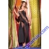 One Piece Black Translucent Sheer Diagonal Mesh Dress 1445 Be Wicked