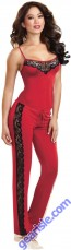Dreamgirl 9704 Soft Stretch Sleepwear Camisole Top Pants